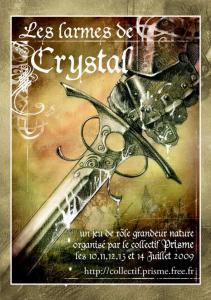 """Affiche """"les Larmes de Crystal"""""""